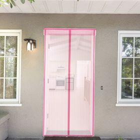 Сетка антимоскитная 80x210 см на магнитной ленте в полоску, цвет розовый Ош