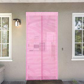 Сетка антимоскитная 80x210 см на магнитной ленте, цвет розовый Ош