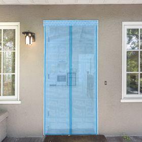 Сетка антимоскитная 80x210 см на магнитной ленте, цвет голубой Ош