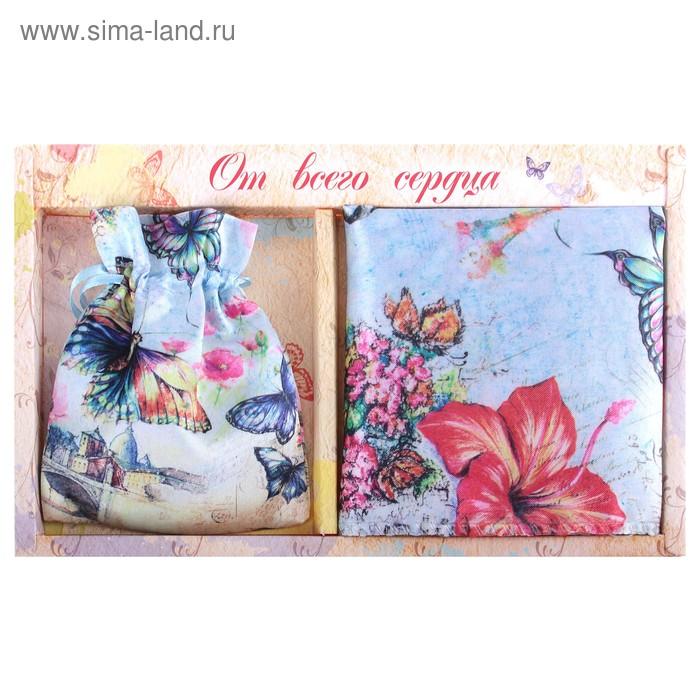 "Подарочный набор ""Бабочки"" (зеркало, платок)"