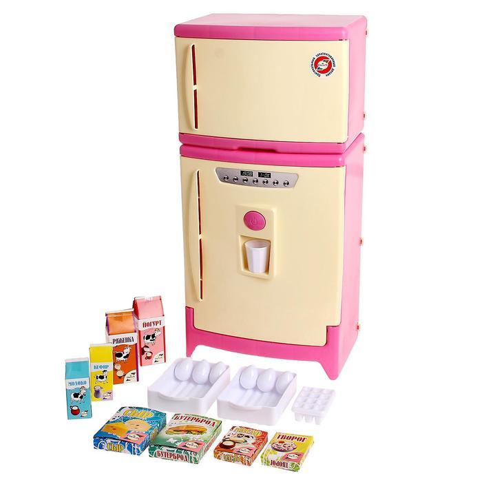 Холодильник двухкамерный с набором продуктов, цвета МИКС