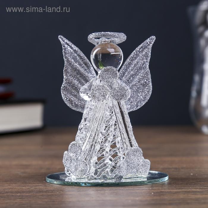 """Сувенир """"Ангелок"""" с цветными вставками, на зеркале, МИКС"""