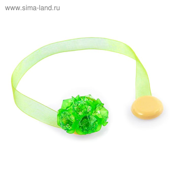 "Подхват для штор на ленте ""Бутон"", цвет зелёный"
