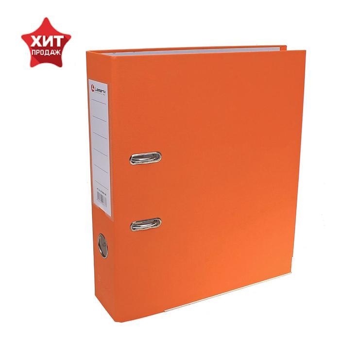 Папка-регистратор А4, 80мм Lamark ПП, металлический уголок, Оранжевый