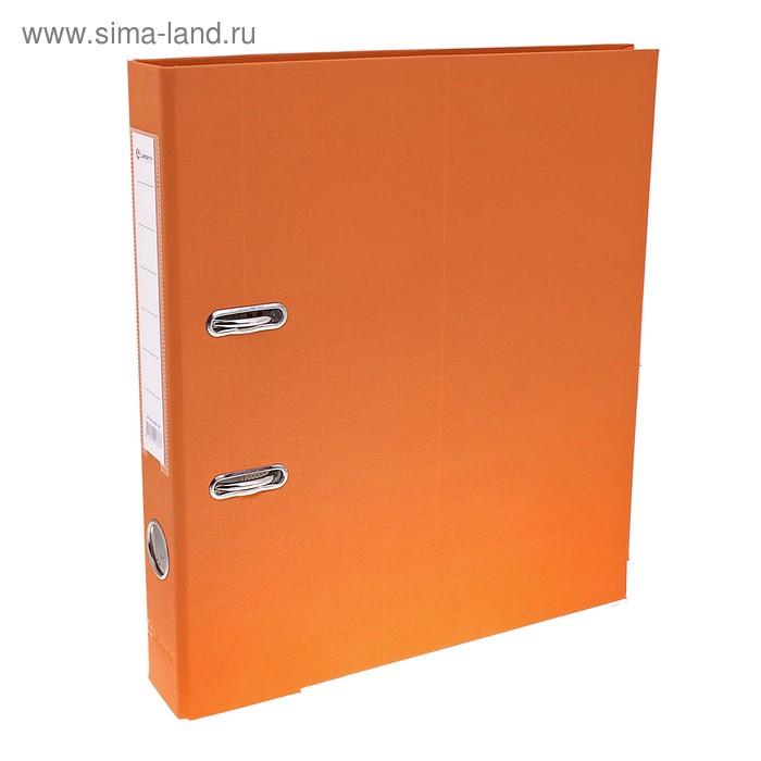 Папка-регистратор А4, 50мм Lamark ПП, металлический уголок, оранжевый