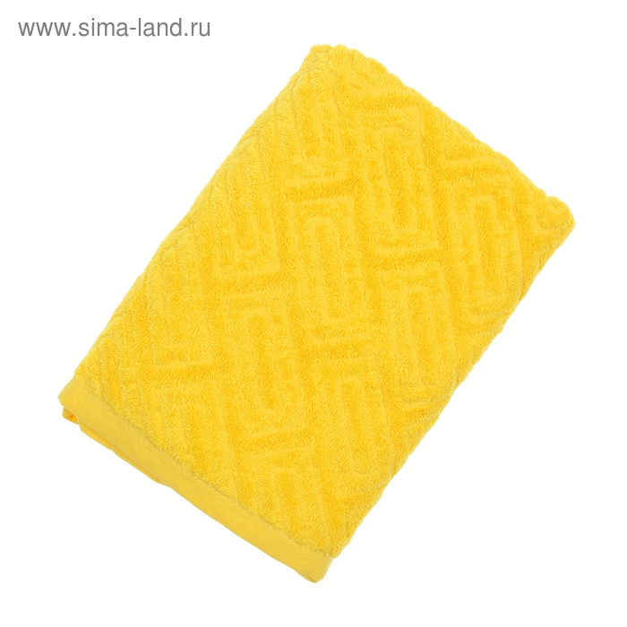 """Полотенце махровое """"Итума"""", цвет средний желтый, 380 гр/м2"""
