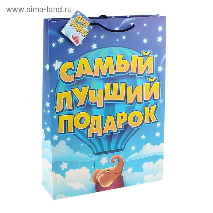 """Пакет подарочный """"Самый лучший подарок"""""""