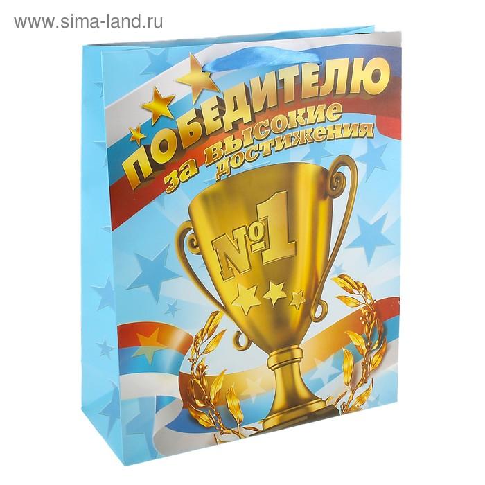 Пакет ламинат «Победителю», MS 18 х 23 х 8 см