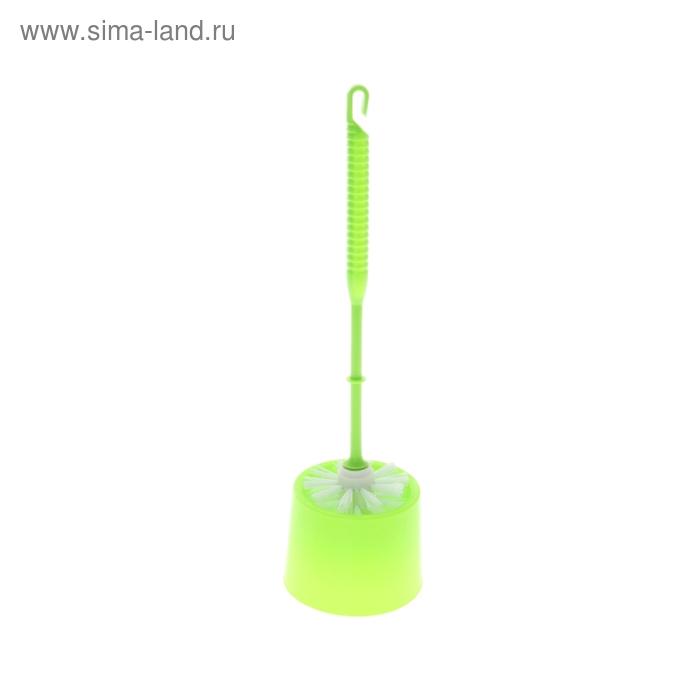 Ершик для унитаза с подставкой, 34 см, цвет МИКС