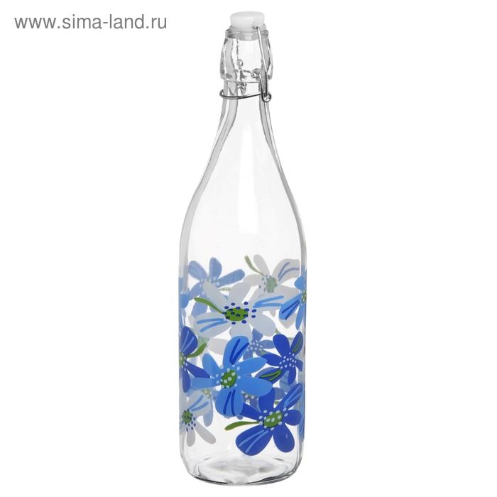 """Бутыль для масла 1,2 л """"Узоры"""", 31 см. декор МИКС"""