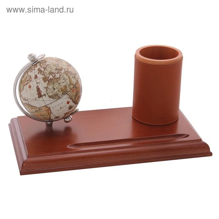 Настольный набор с глобусом и карандашницей