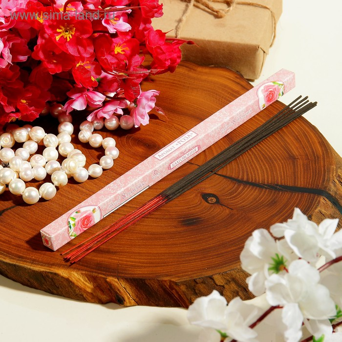 Благовония (9 палочек), аромат роза