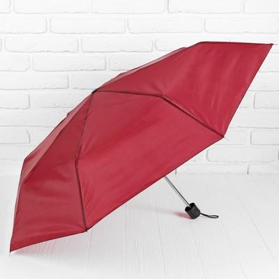 """Зонт механический """"Однотонный"""", R=48см, цвет бордовый"""
