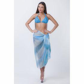 Платок-парео женский Голубая лагуна 100х180 см УЦЕНКА