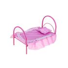 Кроватка для кукол 1, цвета МИКС
