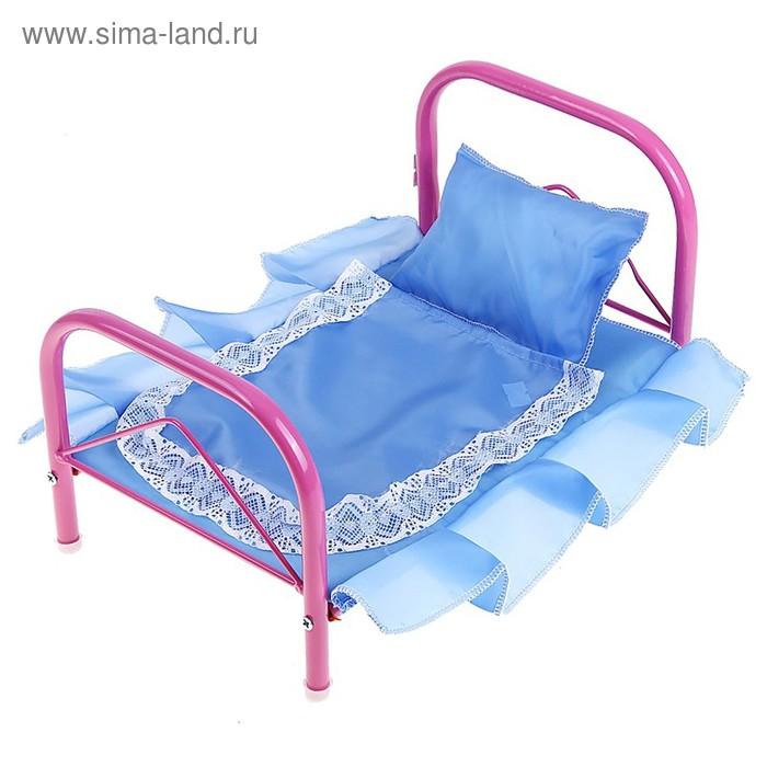 Кроватка для кукол 2, цвета МИКС