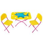Столик со стульями для кукол, цвета МИКС