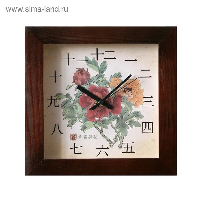 """Часы настенные квадратные """"Китай"""", деревянные"""