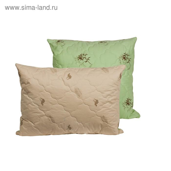 Подушка Миродель Зима-Лето 70*70 см, бамбуковое волокно/верблюжья шерсть, тик
