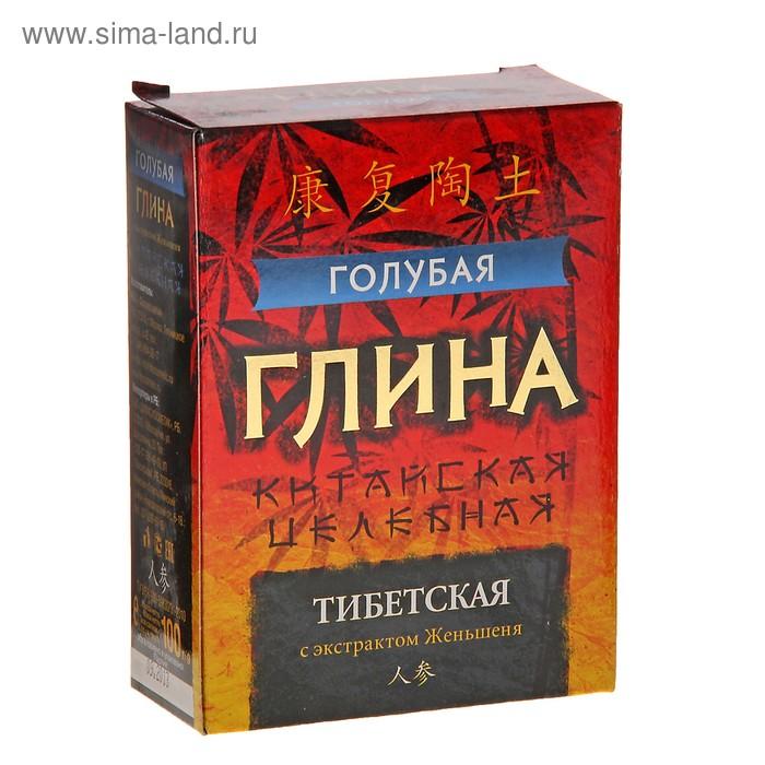 Глина косметическая Голубая Тибетская целебная с экстрактом Женьшеня 100г