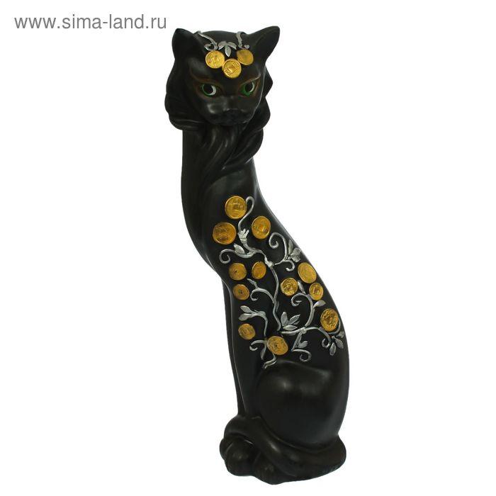 """Копилка """"Кошка Маркиза"""" денежное дерево, чёрная, микс"""