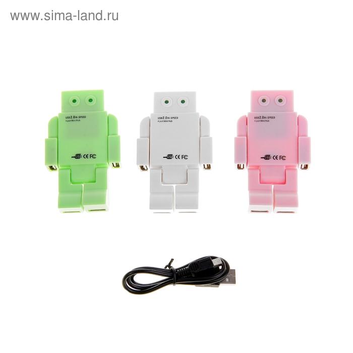 """Разветвитель USB (Hub) """"Робот"""", 4 порта USB 2.0, МИКС"""