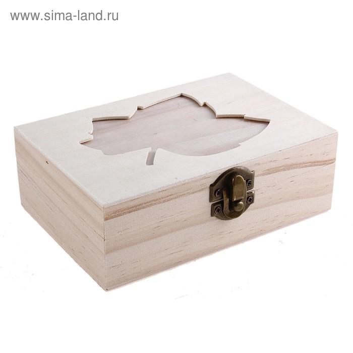 """Шкатулка для росписи с фоторамкой """"Лист"""""""