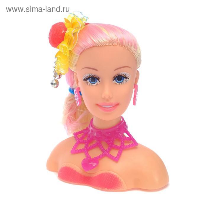 """Кукла манекен для создания причесок, """"Белла-блондинка"""", со звуковыми эффектами, работает от батареек, МИКС"""