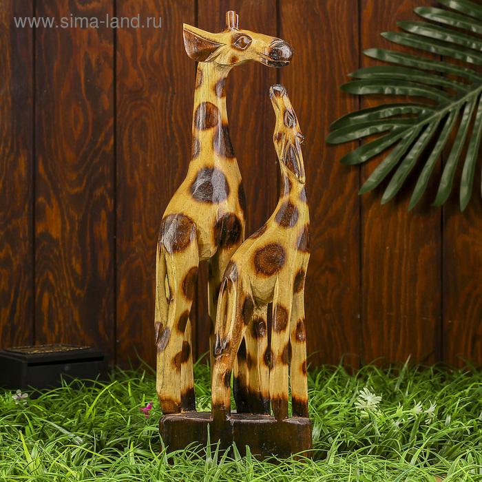 """Сувенир """"Мама с жирафенком"""""""