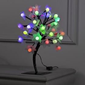 """Светодиодный куст уличный 0,3 м, """"Шарики/цветы"""", 32 LED, 220V, моргает МУЛЬТИ"""