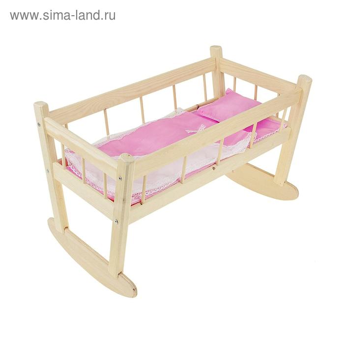 Кукольная кроватка-качалка № 11, цвета МИКС