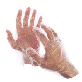Перчатки полиэтиленовые GRIFON, р-р М, 100 шт, 10 мкм, в картонной коробке