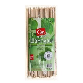 Шампуры деревянные 20 см Grifon, 100 шт.