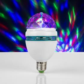 Лампа хрустальный шар, d=8 см. эффект зеркального шара 17х8х8 V220, тип цоколя Е27 Ош