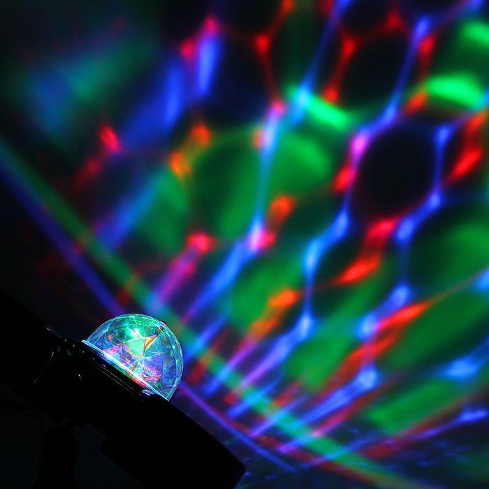 Световой прибор хрустальный шар с музыкой 20 х 22 х 12 V220