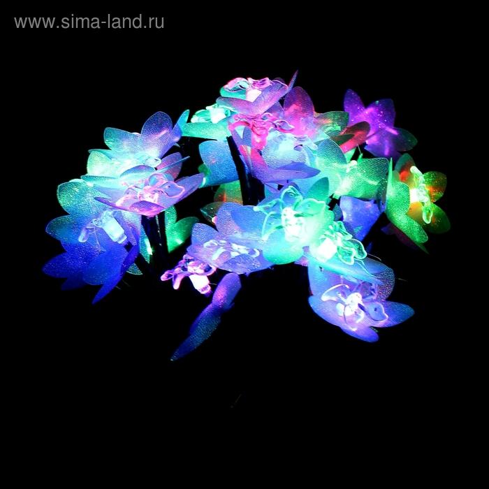 """Светодиодный куст уличный 0.3 м, """"Морская звезда"""", 32 LED, 220V, моргает МУЛЬТИ"""