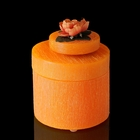 """Музыкальная шкатулка """"Цветы оранж"""", аромат апельсина, круглая"""