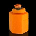 """Музыкальная Шкатулка """"Цветы оранж"""", аромат апельсина"""