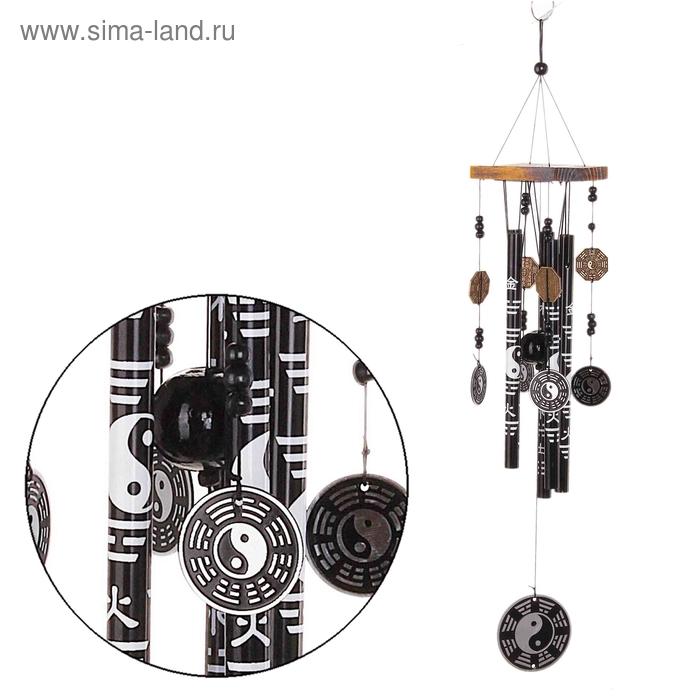 """Музыка ветра """"Инь и Ян"""" 5 трубочек, 10 фигурок"""