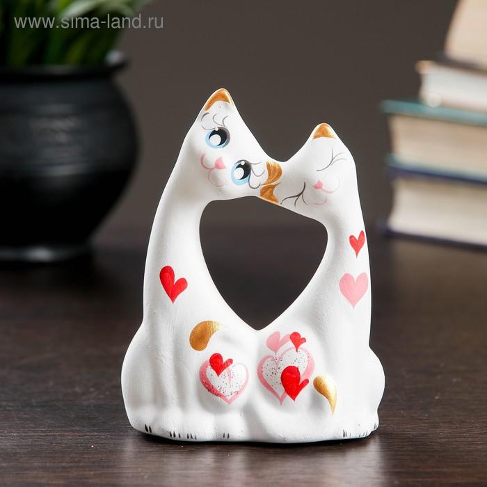 """Сувенир """"Коты влюбленные"""" малые белые"""