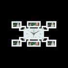 """Часы настенные """"Жучок"""", белые + 6 фоторамок: 6 × 9,5 см (4 шт.) и 5 × 14,5 см (2 шт.)"""