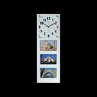 """Часы настенные """"Коллекционер"""", белые + 3 фоторамки 8 × 13,5 см"""