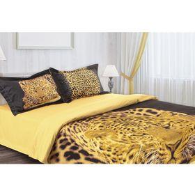 """Постельное бельё """"Этель 3Д"""" Леопард 2 сп., 180*210 см 220*240 см 50*70 + 5 см - 2 шт."""