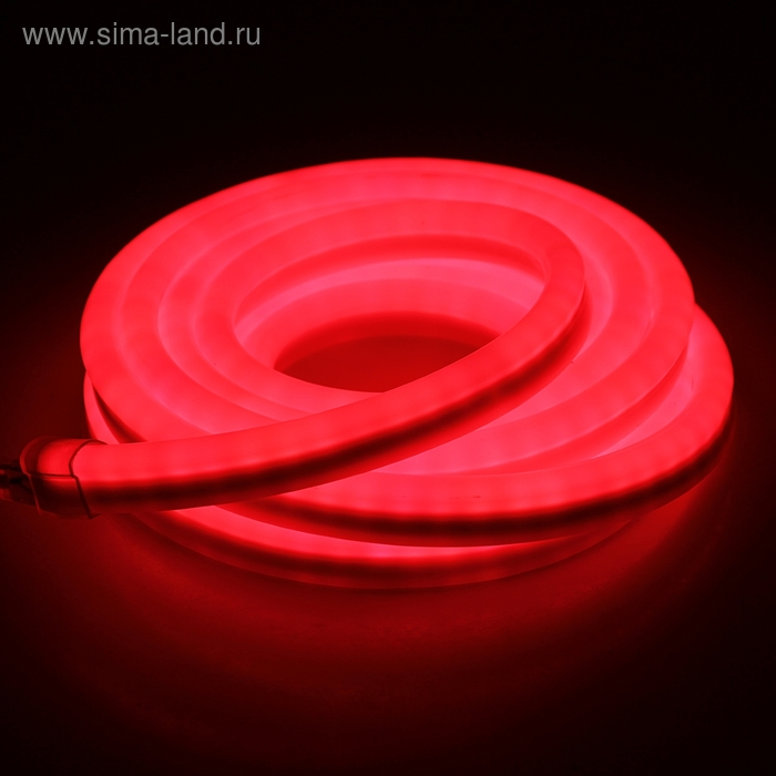 Гибкий неон, 12*24мм, 5 м, LED/м-80-220V, КРАСНЫЙ
