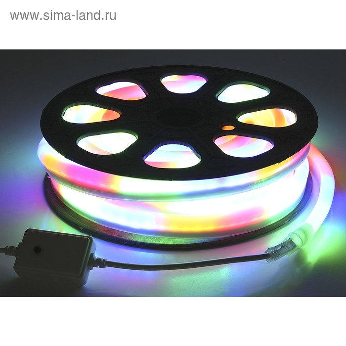 Гибкий неон, 12*24мм, 10 м, LED/м-80-220V, 7 цветов, МУЛЬТИ
