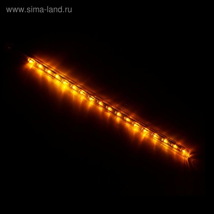 """Светодиодная сосулька """"Тающая"""" 0,3 м, d=2 см. LED-18-220V ЖЕЛТЫЙ"""