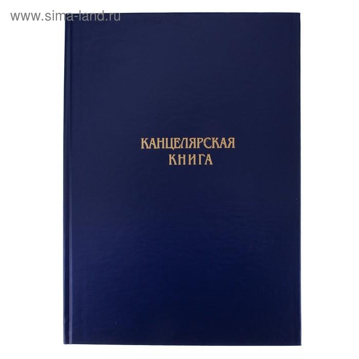 Книга учета А4, 192 листа в клетку, офсет №1 (белизна 90%), твердая обложка, бумвинил, ассорти