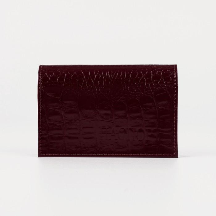 Обложка для паспорта, бордовый кайман
