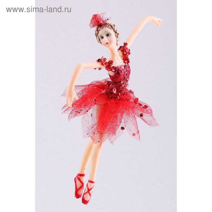 """Новогоднее украшение """"Балерина в красном"""""""