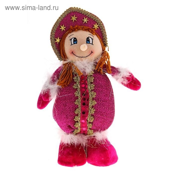 """Мягкая игрушка """"Весёлая Снегурочка"""" (малиновая)"""